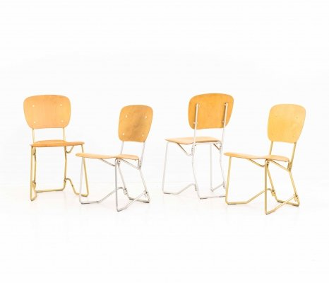 Armin Wirth Aluflex Chairs for Hans Zollinger Söhne / Seledue