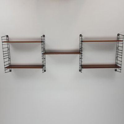 Mid Century Teak Shelving Wall Unit by Tomado, 1960s
