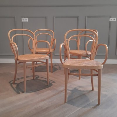 Set of 4 Thonet No. 214 RF Dining Chairs, 1998