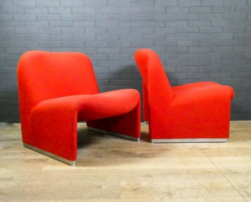 Set of 2 Alky lounge chairs by Giancarlo Piretti for Artifort, 1970s