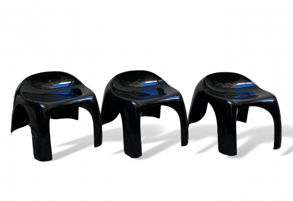 Group of 3 'Efebo' low stools by Stacy Dukes for Artemide, 1960s