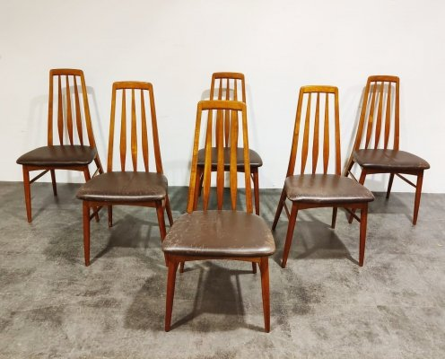 Set of 6 'Eva' rosewood dining chairs by Niels Kofoed, Denmark 1960s