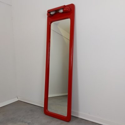 Vintage Wall Mirror with lights, 1970s