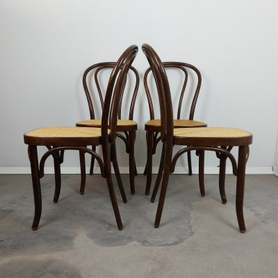 Set of 4 bentwood dining chairs, 1960s