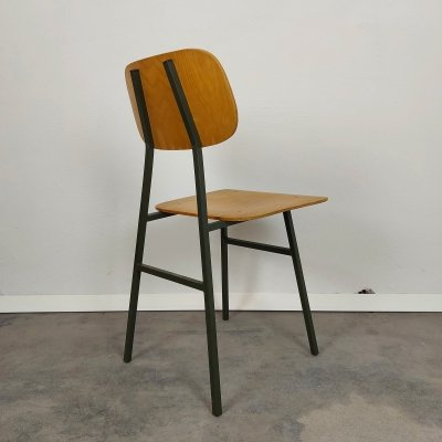 Vintage chair with green metal frame, 1970s