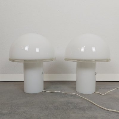 Pair of Onfale table lamps by Luciano Vistosi for Artemide, 1970s