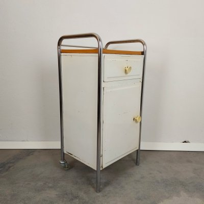 Metal Cabinet with back wheels, 1970s
