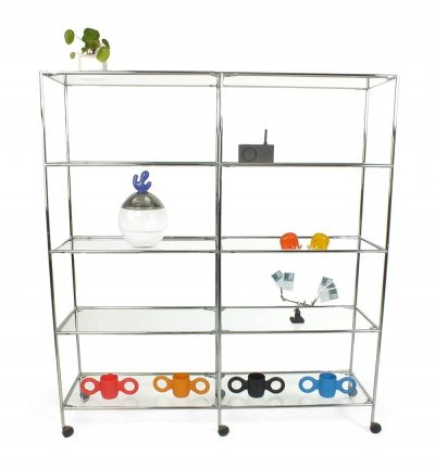 Big glass Abstracta cabinet by Poul Cadovius