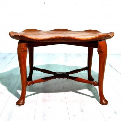 Unusual petal shaped coffee table by F Parker & Sons, England 1920s