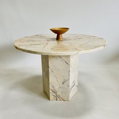 Vintage Italian design marble dining table, Italy 1970s