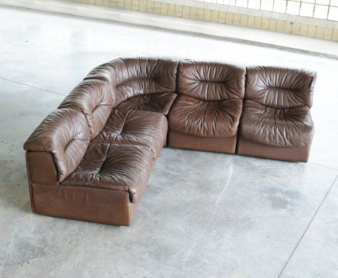 DS 14 leather seating group by De Sede, 1970s
