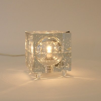 Desk lamp in glass made by Wila, Germany 1960s