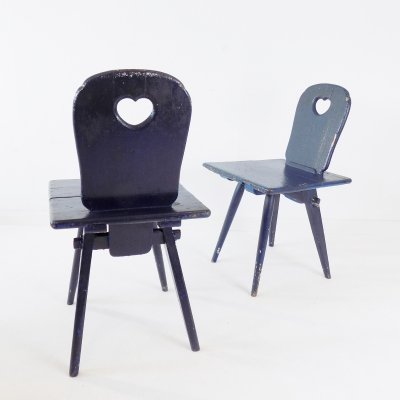 Set of 2 kitchen chairs, 1900s