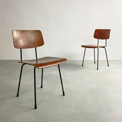 Dutch Plywood & Steel Chair by AR Cordemijer for Gispen, c.1950