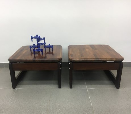 Set of 2 Percival Lafer side tables, 1970's