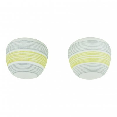 Pair of typical 50s ceiling lights by Brüne Glas