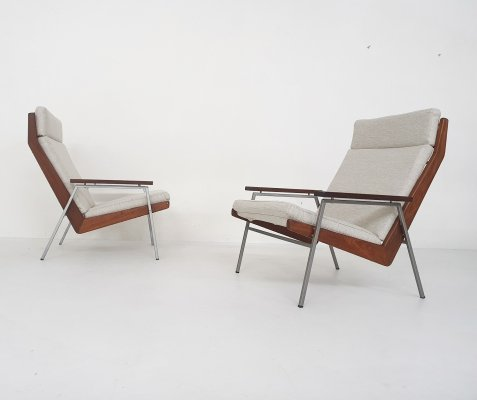 Set of two Rob Parry for Gelderland 'Lotus' lounge chairs model 1611, The Netherlands 1950s