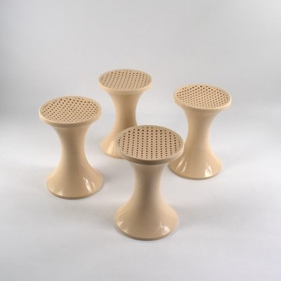 Tam Tam Plastic Stool by STAMP Nurieux, France 60s