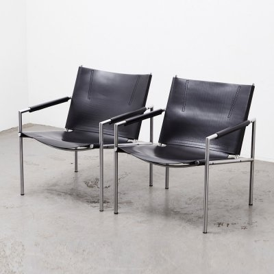 Martin Visser Pair of SZ02 Lounge Chairs for 't Spectrum 1965