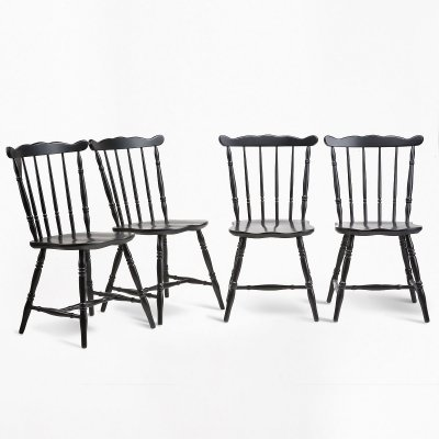 Set of 4 King Edward chairs, 1970s