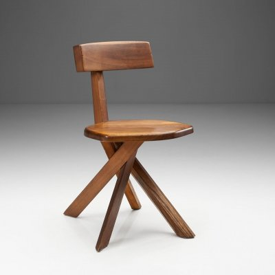 Pierre Chapo 'S34' Solid Elm Chair, France 1960s