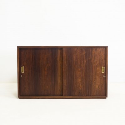 Vintage double sided rosewood cabinet, 1950s