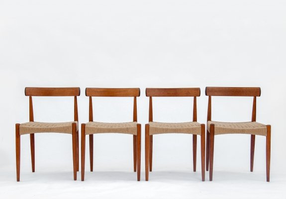 Set of 4 Chairs by Arne Hovmand for Mogens Kold, 1960s