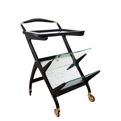Bar cart / magazine rack by Cesare Lacca, 1950