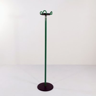 Green Cribbo Coat Rack by Raul Barbieri & Giorgio Marianelli for Rexite, 1980s