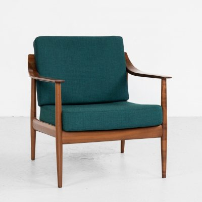 Midcentury easy chair in cherry wood by Knoll, 1960s