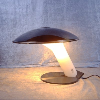Rare Murano glass table lamp from Leucos, Italy 1970's