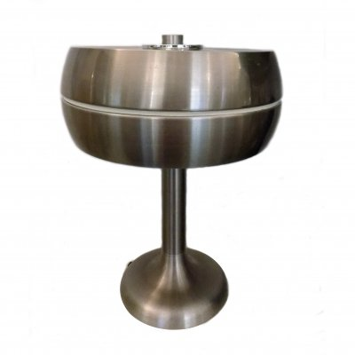 Table Lamp in Nickel-Plated Aluminum, 1970