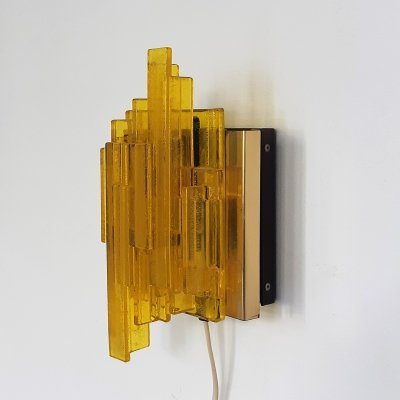 Wall lamp by Claus Bolby for Lyskær Belysning, 1970s
