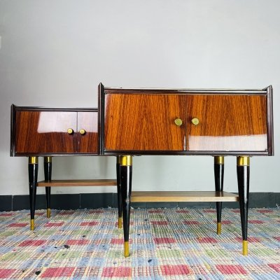 Mid-century pair of bedside tables, Italy 1970s
