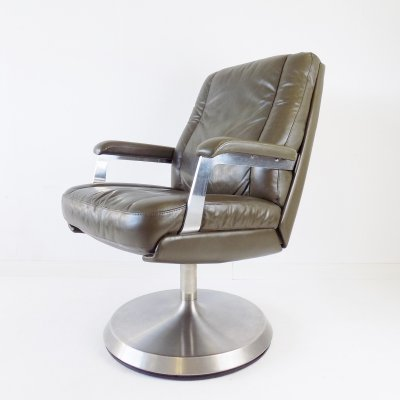 Sedus leather office armchair from the 1970s