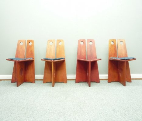 Swedish Pine Dining Chairs by Gilbert Marklund for Furusnickarn AB, 1970s