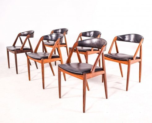 Mid Century Rosewood Model 31 Dining Chairs by Kai Kristiansen, 1960s