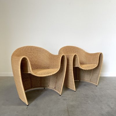 Set of King Tubby chairs by Miki Astori for Driade, 1990s