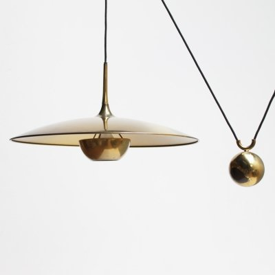 Vintage brass counterweight pendant 'Onos 55' by Florian Schulz, Germany 1970s