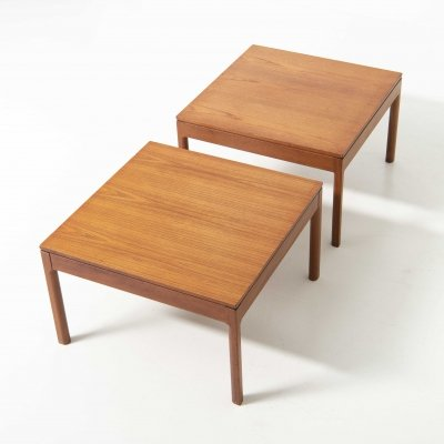 Pair of Two Side Tables in Teak, 1950's