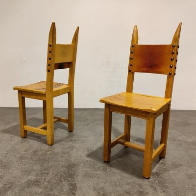 Pair of brutalist chairs, 1960s
