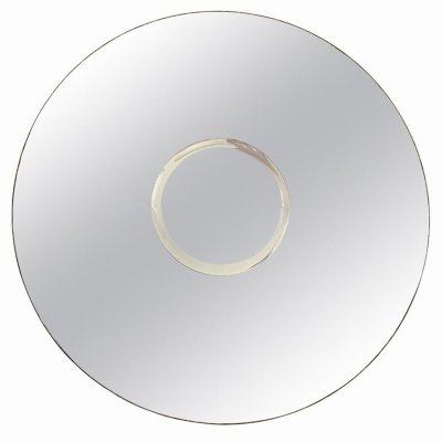 Round 'Sole' wall mirror with two concentric circles by Gallotti & Radice, 1970s