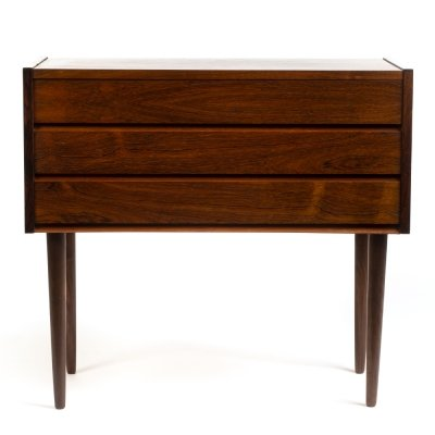 Mid century Danish rosewood small chest of drawers, 1960s