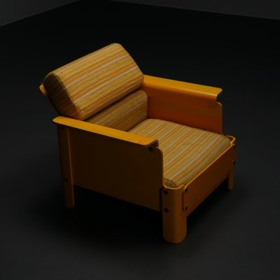 Rare plywood low chair, 1960s