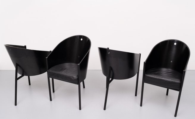 Set of 4 dining chairs by Philippe Starck for Aleph Ubik, 1980s