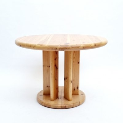 Danish Solid Pine Dining Table by Rainer Daumiller for Hirtshals Sawmil, 1970s