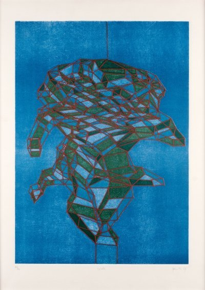 Etching & aquatint by Achille Perilli, 1969