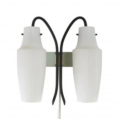 Dual shade wall light from the 50s