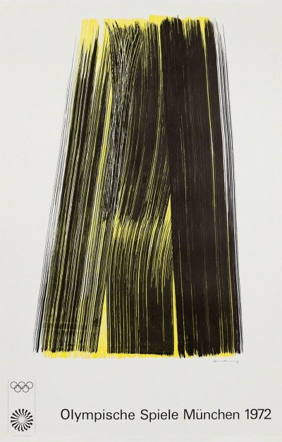 Hans Hartung Lithography Composition, 1972