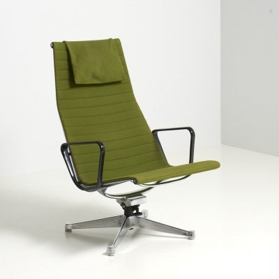 Swivel Lounge Chair 'EA124' by Charles & Ray Eames for Herman Miller, USA 1960s